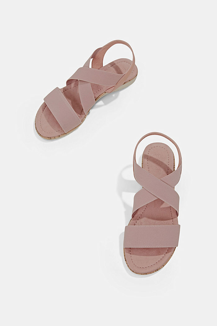 Sandalen mit elastischen Riemen, NUDE, detail image number 5