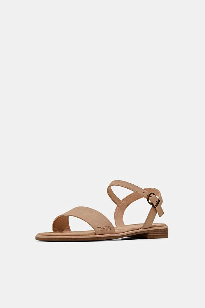 Sandales plates en similicuir, BEIGE, detail image number 2