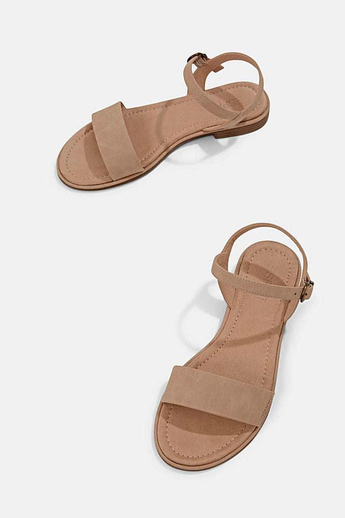 Sandales plates en similicuir, BEIGE, detail image number 5