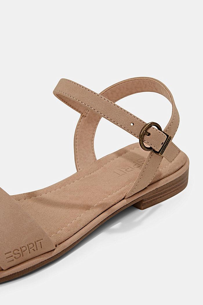 Sandales plates en similicuir, BEIGE, detail image number 4
