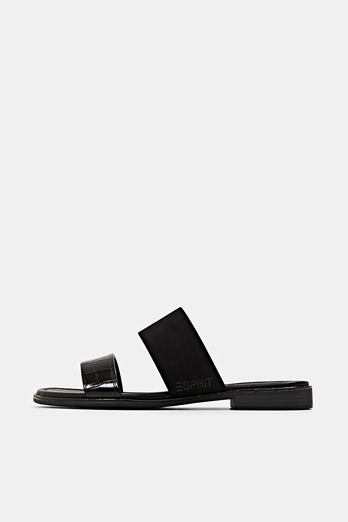 Pantoflíčky ze směsi materiálů, BLACK, detail image number 0