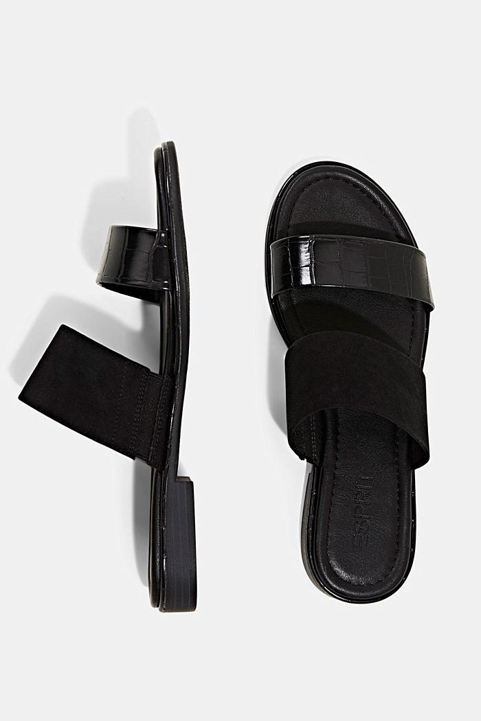 Pantoflíčky ze směsi materiálů, BLACK, detail image number 1