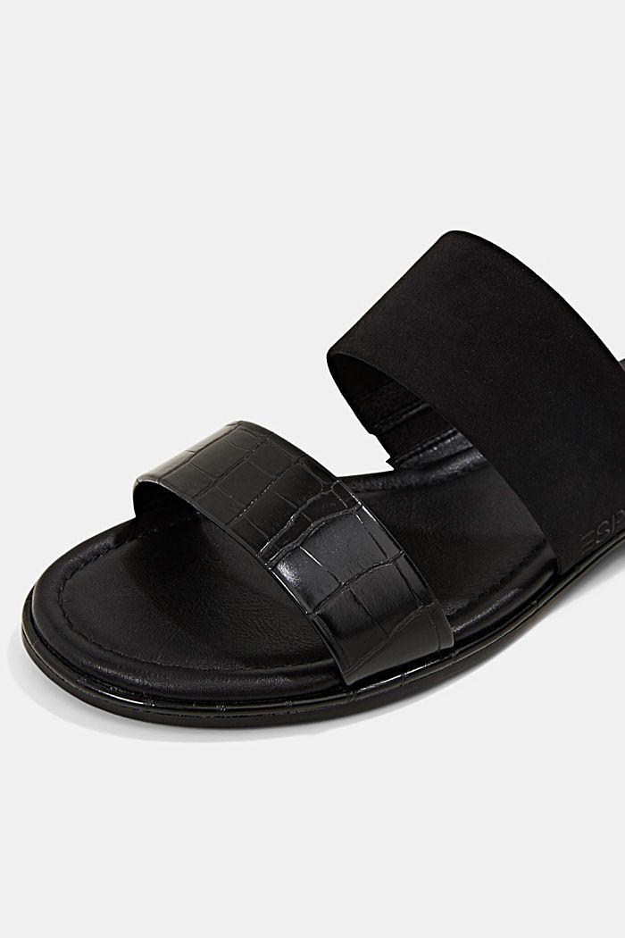 Pantoflíčky ze směsi materiálů, BLACK, detail image number 4