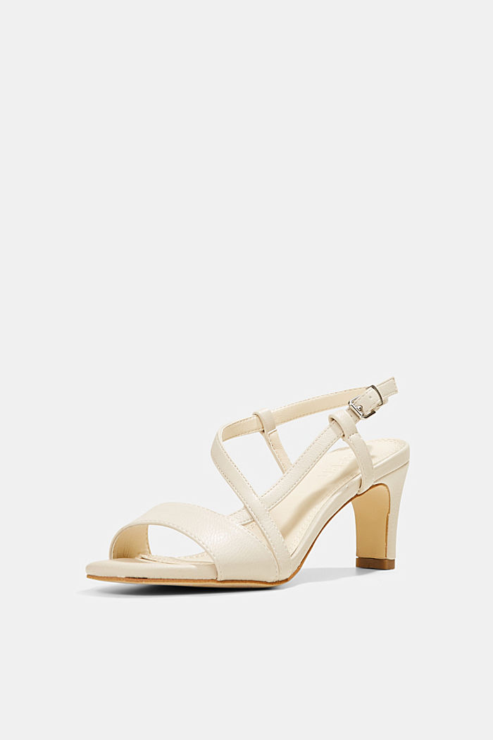 Vegan: Faux leather strappy sandals