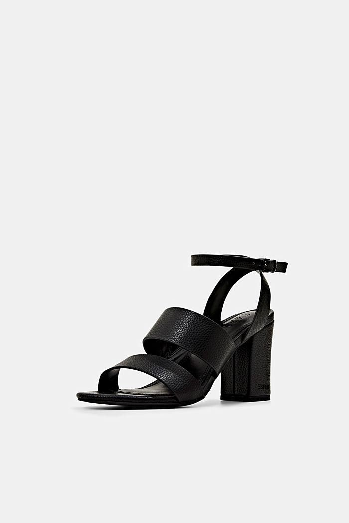 Sandalen van imitatieleer, BLACK, detail image number 2