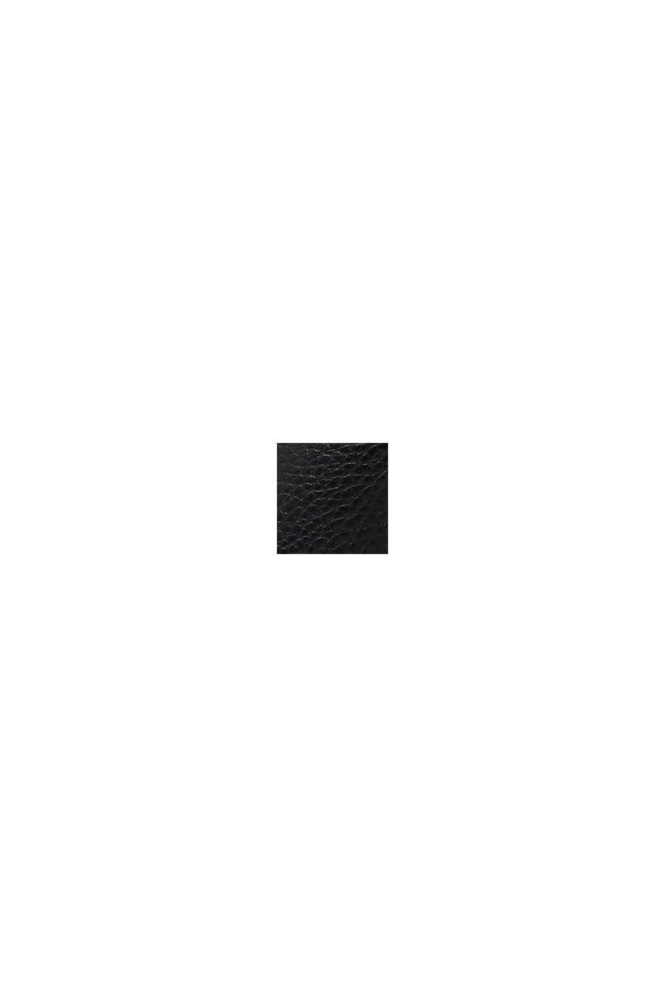 Sandaler i skinnlook, BLACK, swatch