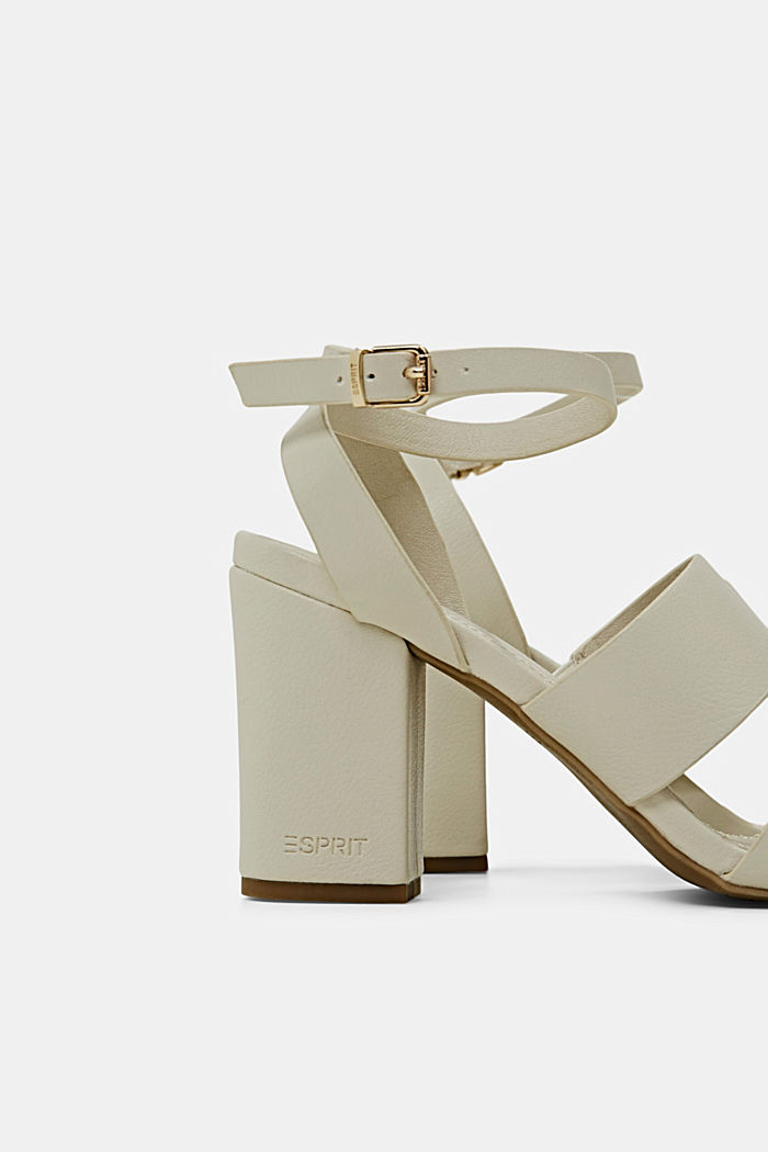 Sandali in similpelle, OFF WHITE, detail image number 5