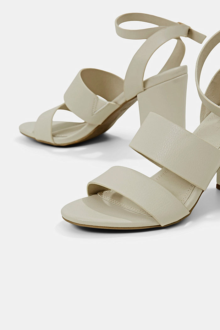 Sandali in similpelle, OFF WHITE, detail image number 4