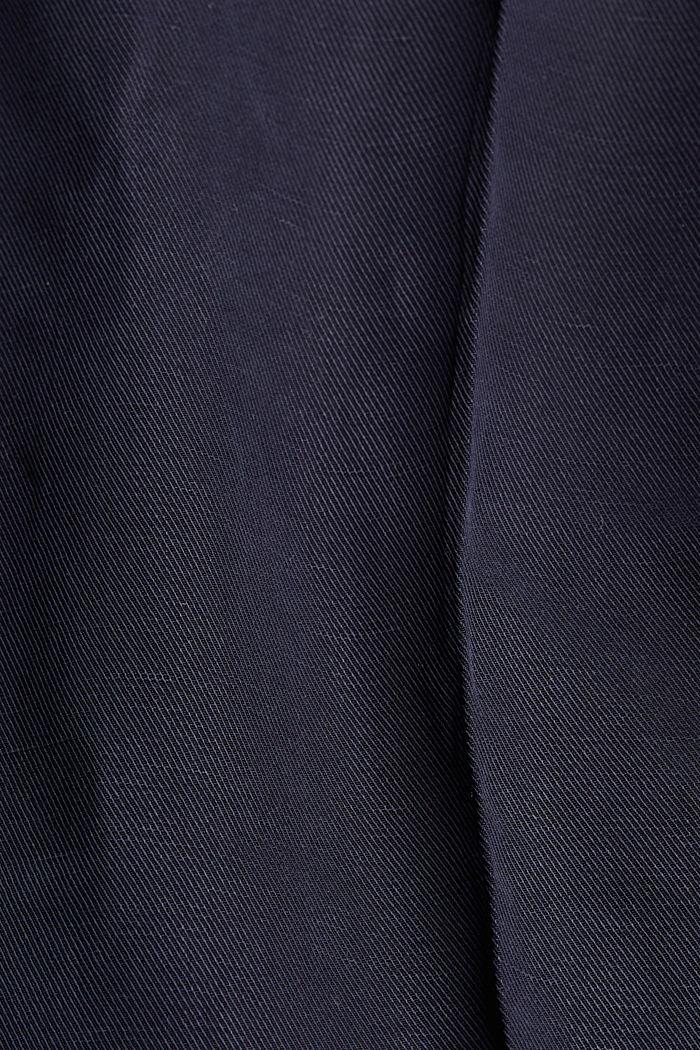 Met linnen: culotte met strikceintuur, NAVY, detail image number 4