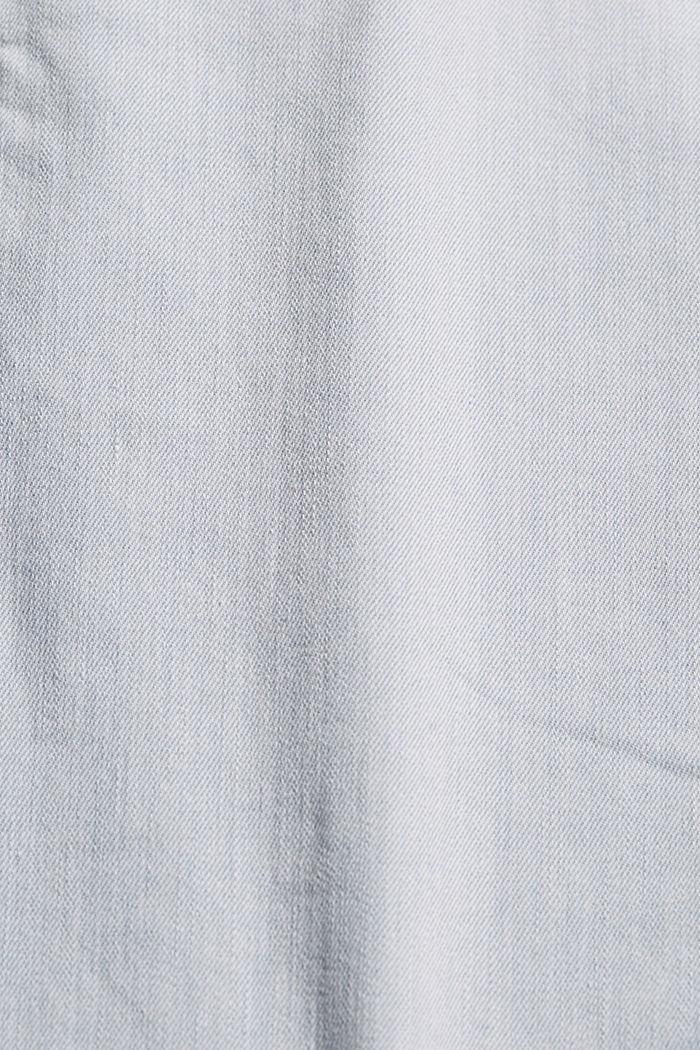 Jean longueur chevilles en denim délavé, BLUE BLEACHED, detail image number 4