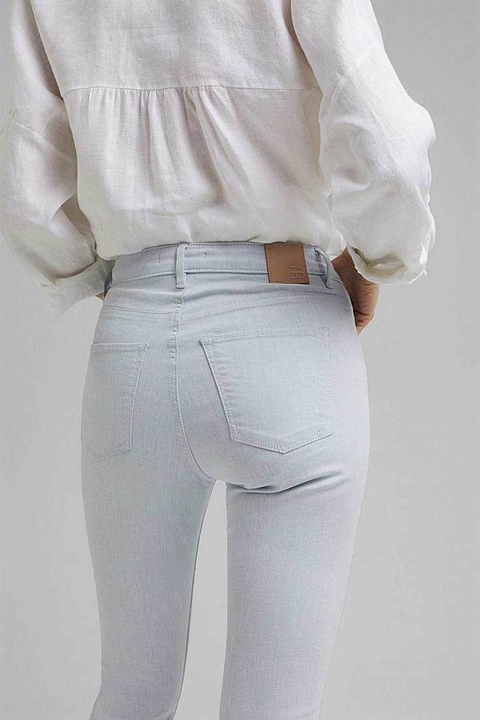 Knöchellange Jeans aus bleached Denim, BLUE BLEACHED, detail image number 5