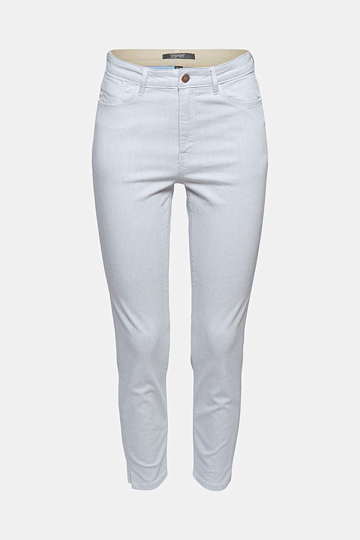 Knöchellange Jeans aus bleached Denim