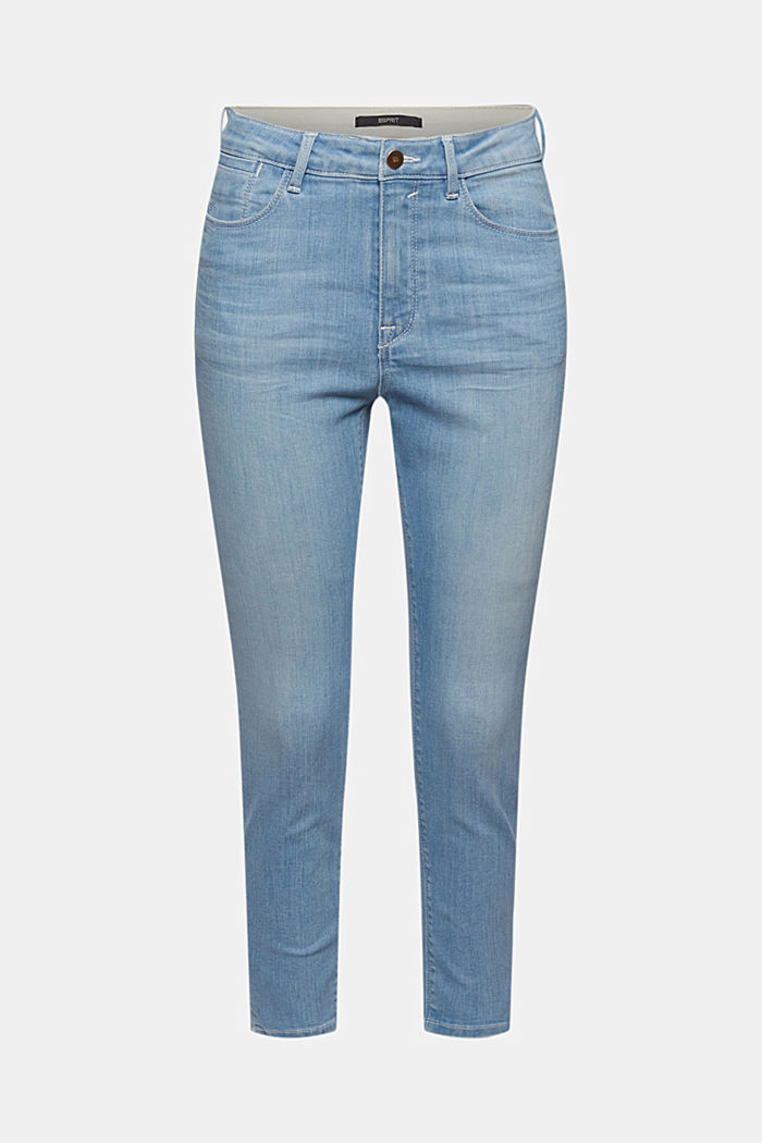 Recycelt: cropped Stretch-Jeans, Bio-Baumwolle
