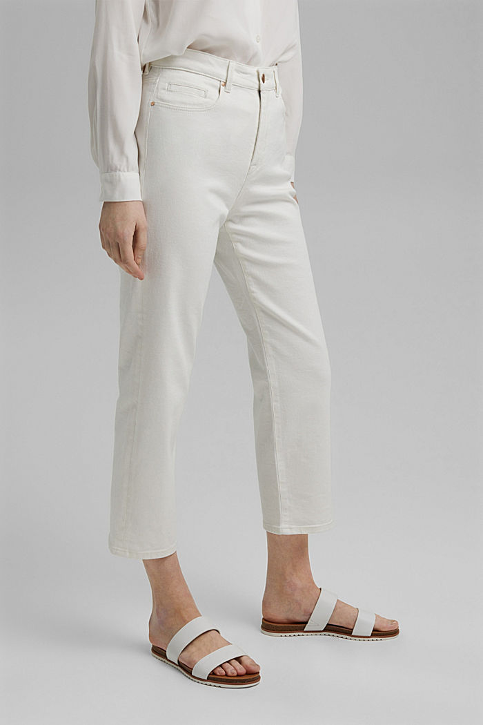 Stretch-Jeans aus Organic Cotton, OFF WHITE, detail image number 0