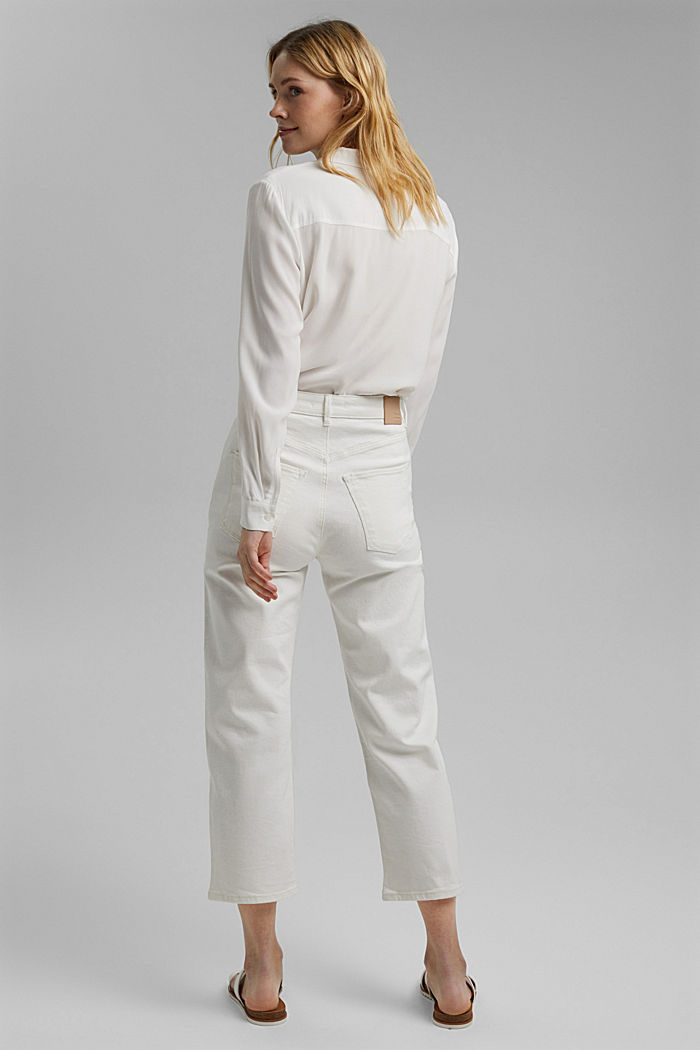Stretch-Jeans aus Organic Cotton, OFF WHITE, detail image number 3