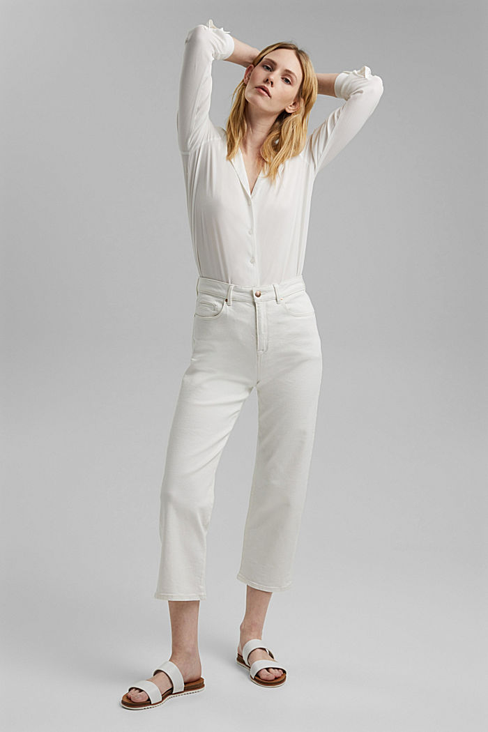 Stretch-Jeans aus Organic Cotton, OFF WHITE, detail image number 6