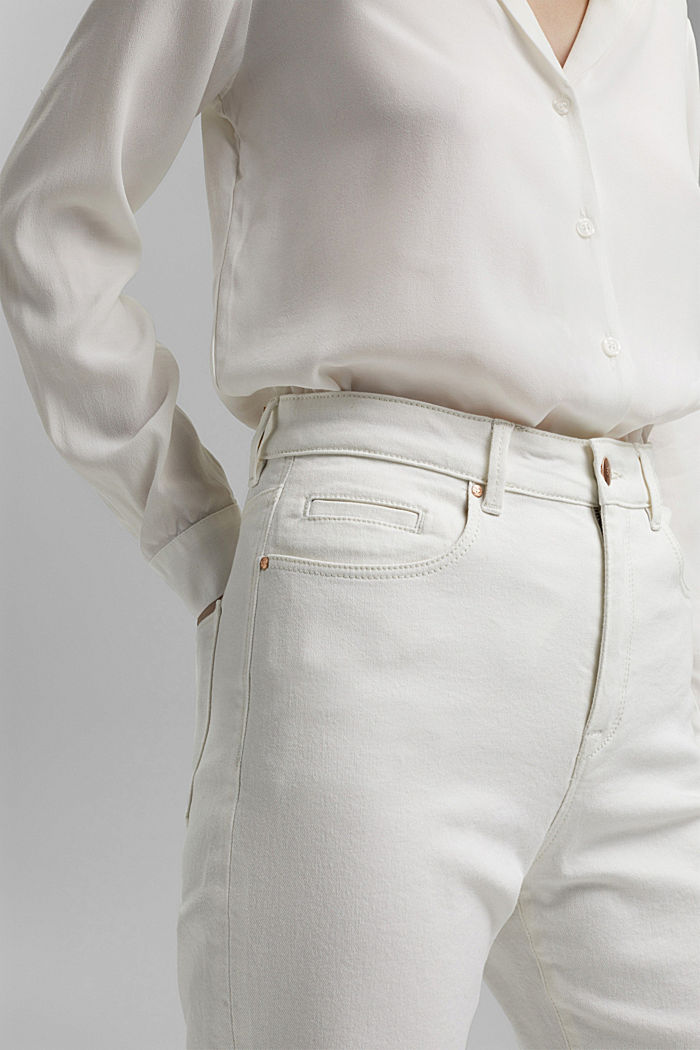 Stretch-Jeans aus Organic Cotton, OFF WHITE, detail image number 2