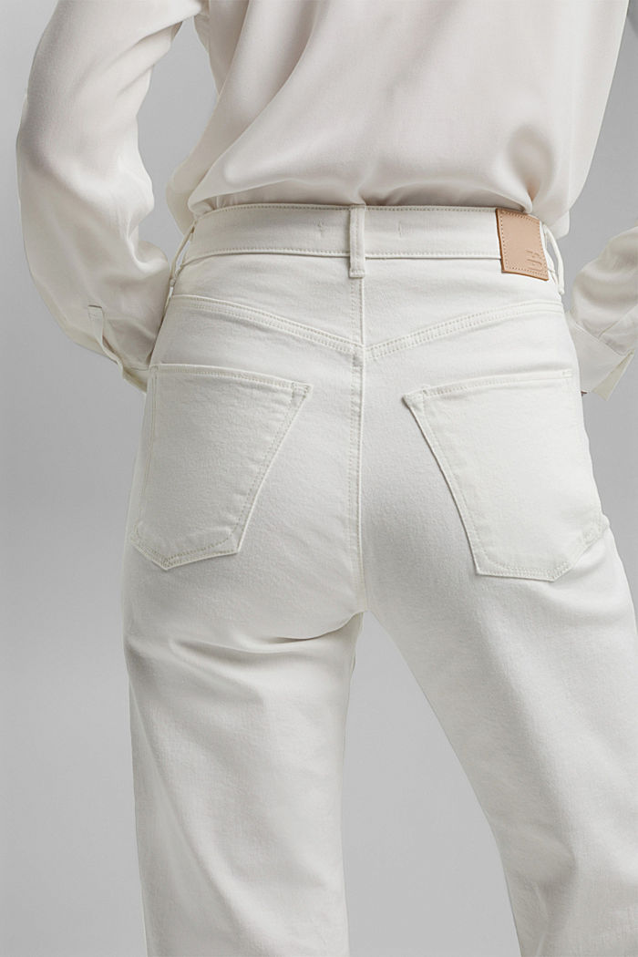 Stretch-Jeans aus Organic Cotton, OFF WHITE, detail image number 5