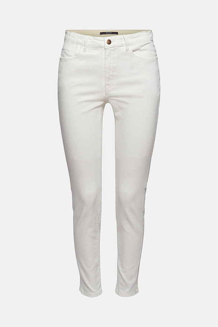 Jeans stretch con spacchi, cotone biologico, OFF WHITE, detail image number 7