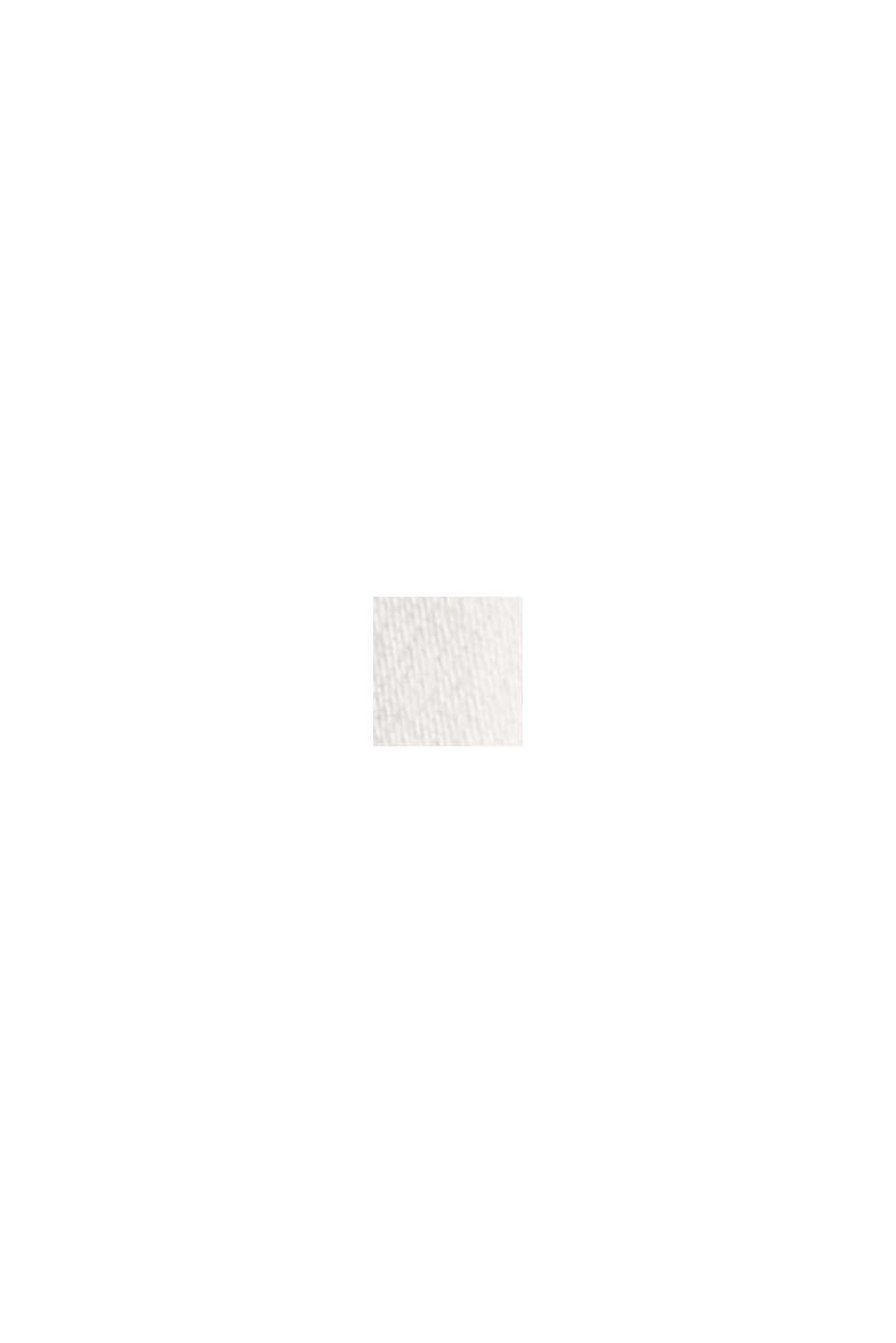 Stretchjeans met splitten, biologisch katoen, OFF WHITE, swatch
