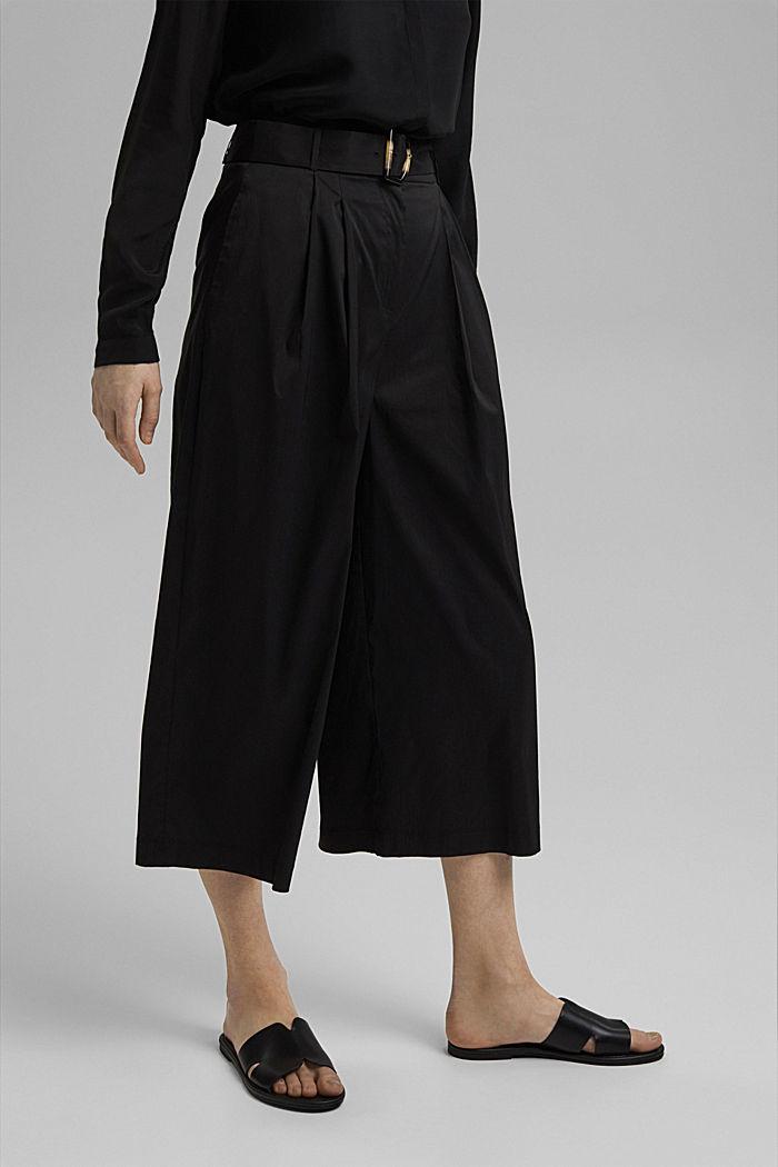 Jupe-culotte en coton mélangé, BLACK, detail image number 0