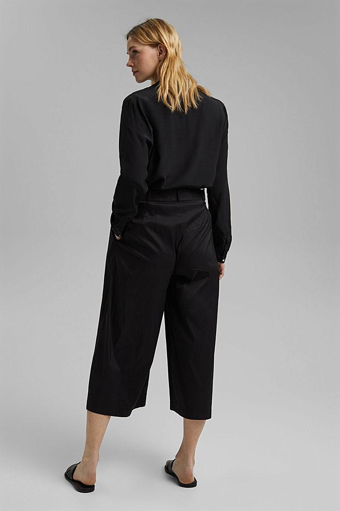 Jupe-culotte en coton mélangé, BLACK, detail image number 3