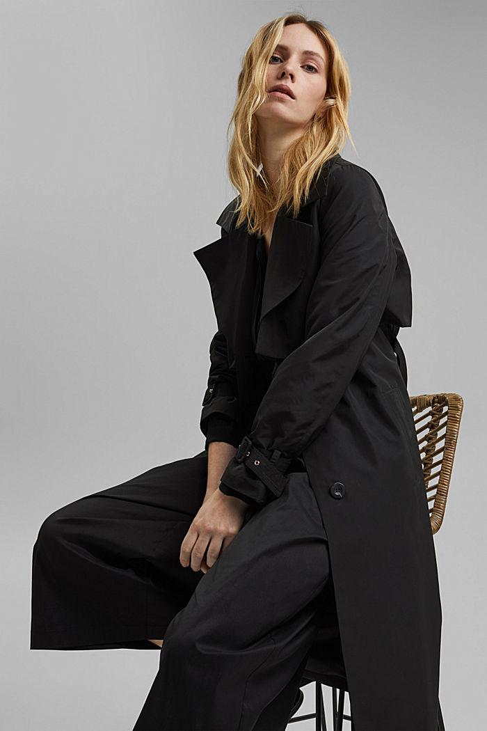 Jupe-culotte en coton mélangé, BLACK, detail image number 5