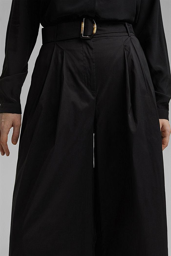 Jupe-culotte en coton mélangé, BLACK, detail image number 2