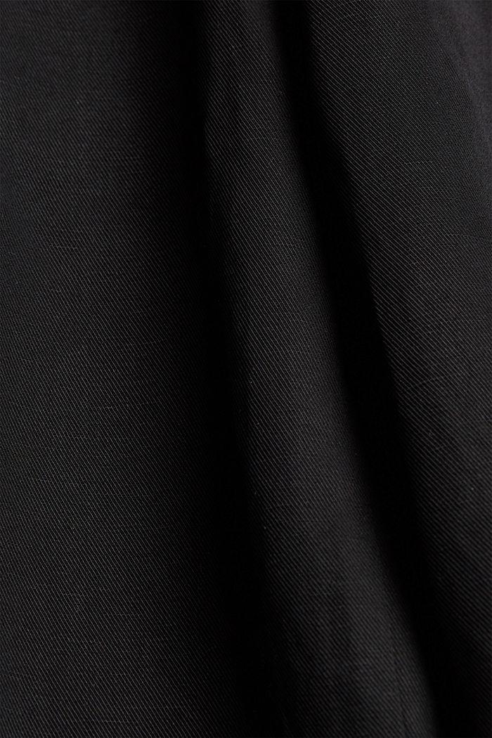Jupe-culotte en coton mélangé, BLACK, detail image number 4
