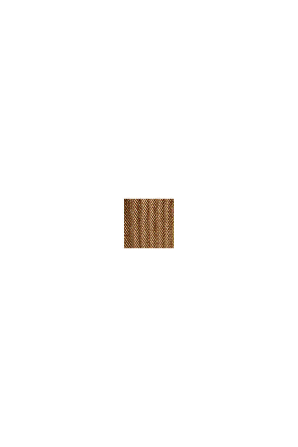 Culottebyxa med skärp i bomullsmix, BARK, swatch