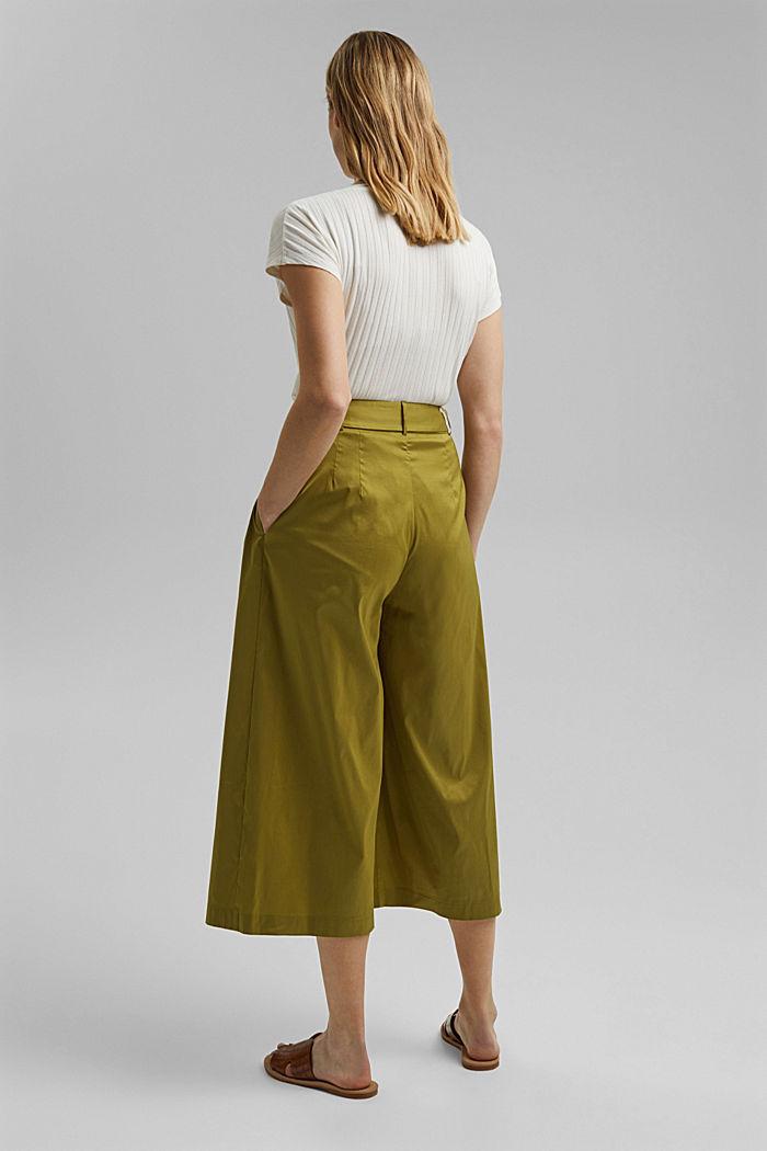 Jupe-culotte en coton mélangé, OLIVE, detail image number 3