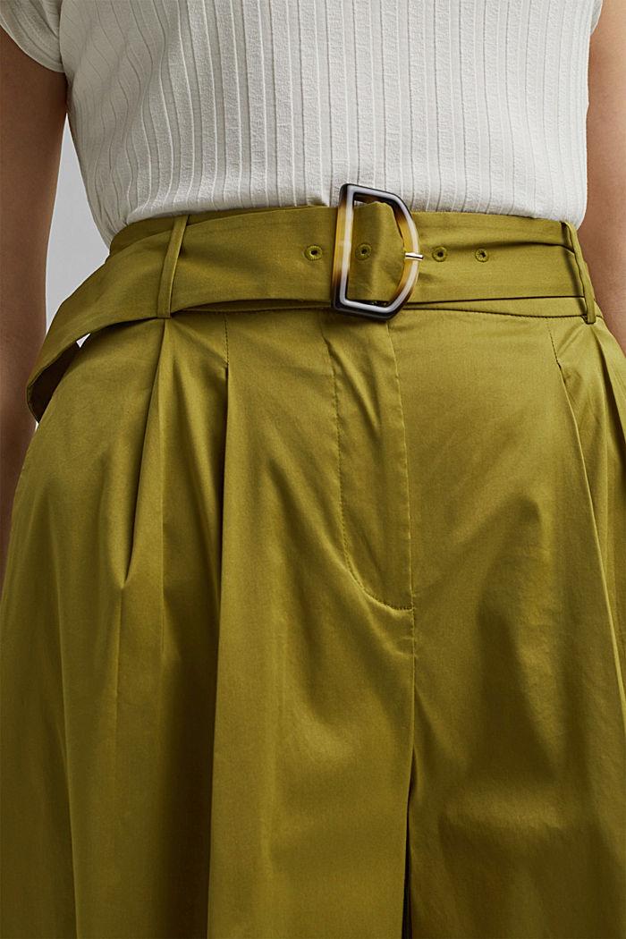 Jupe-culotte en coton mélangé, OLIVE, detail image number 2