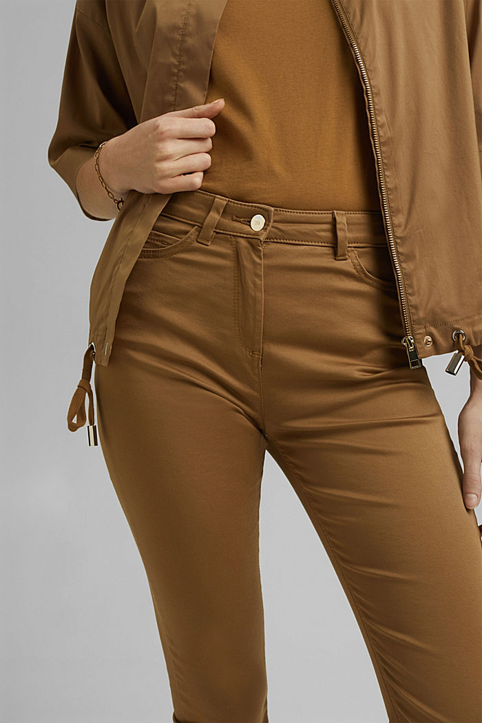 Pantalon corsaire super stretch, BARK, detail image number 2