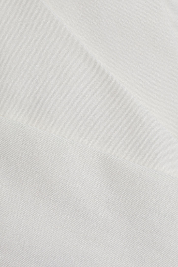Cropped kick flare trousers, WHITE, detail image number 4