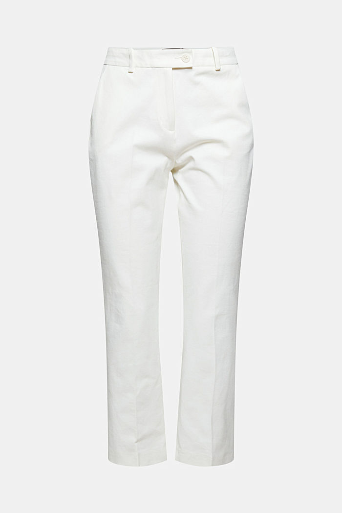 Cropped kick flare trousers