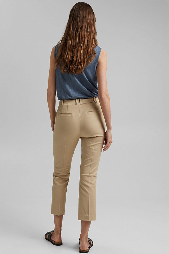 Cropped kick flare trousers, SAND, detail image number 3