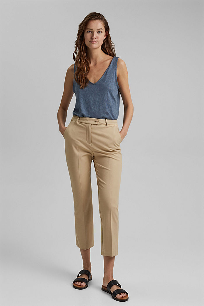 Cropped Hose mit Kick Flare