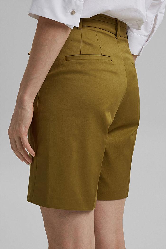 Short premium en twill à ceinture, OLIVE, detail image number 5