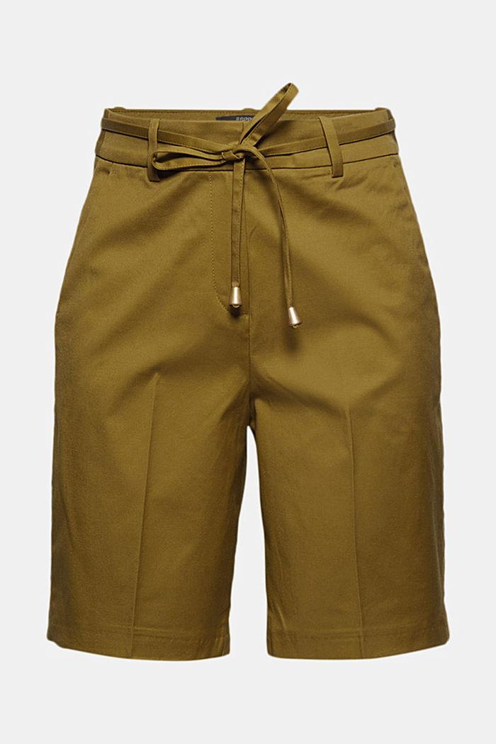 Lækre shorts i twill med bælte