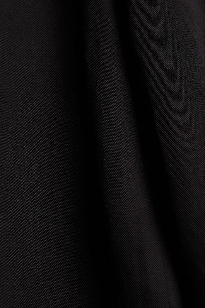 Midirok van een katoenmix met ceintuur, BLACK, detail image number 4