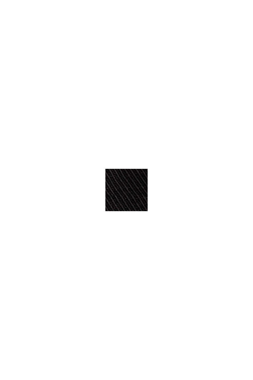 Midi-nederdel med bælte, bomuldsblanding, BLACK, swatch
