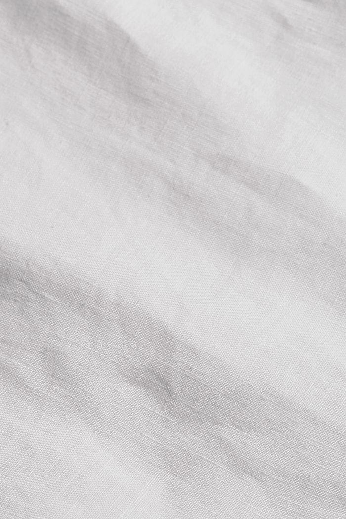 En lino: maxifalda con cinturón, WHITE, detail image number 4