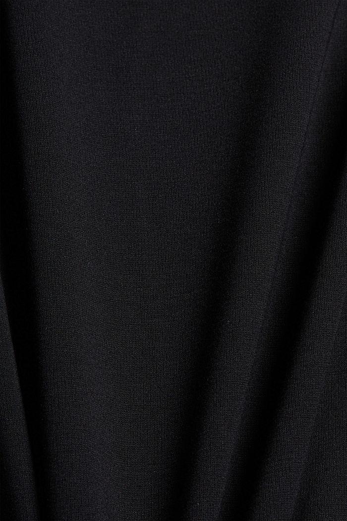 Wikkelrok van interlock-jersey, LENZING™ ECOVERO™, BLACK, detail image number 4