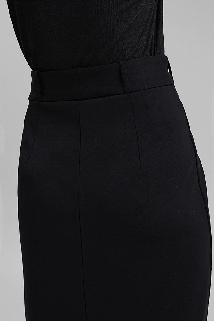 Wikkelrok van interlock-jersey, LENZING™ ECOVERO™, BLACK, detail image number 5