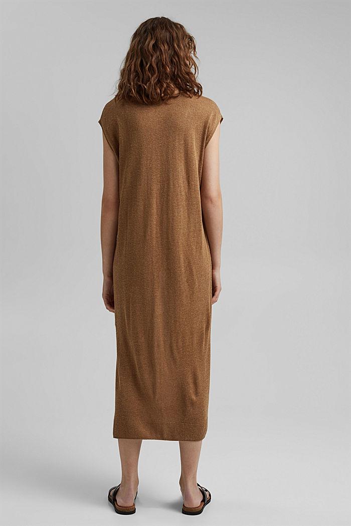 À teneur en lin: robe-pull de longueur midi, BARK, detail image number 2