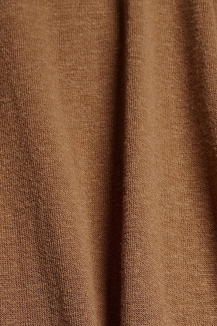 À teneur en lin: robe-pull de longueur midi, BARK, detail image number 4
