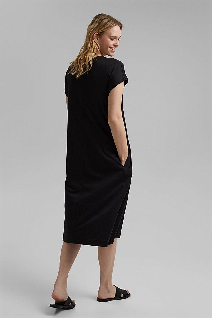 TENCEL™ mélangé: robe en jersey interlock, BLACK, detail image number 2