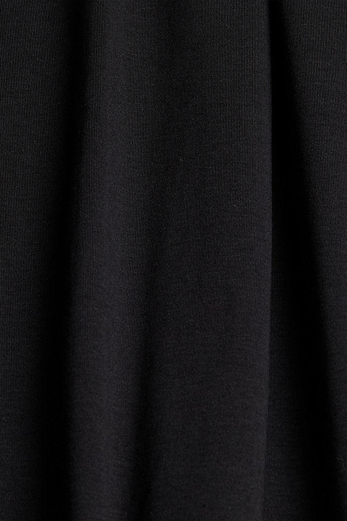 TENCEL™ mélangé: robe en jersey interlock, BLACK, detail image number 4