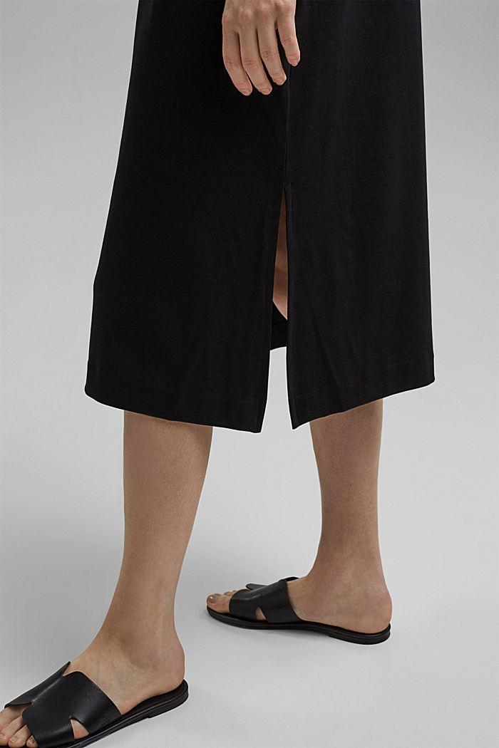 TENCEL™ mélangé: robe en jersey interlock, BLACK, detail image number 5