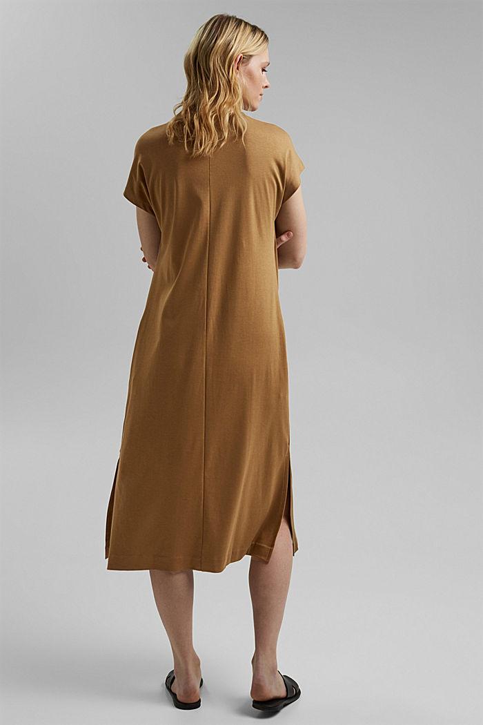 TENCEL™ blend: interlock jersey dress, BARK, detail image number 2